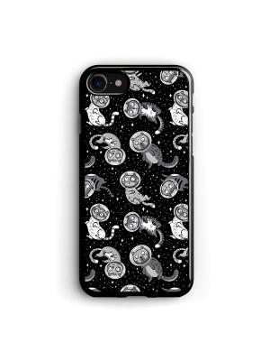 Чехол для iPhone 7/8 Космокот Boom Case. Цвет: черный, серый