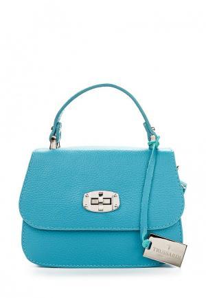 Сумка Trussardi Collection. Цвет: голубой
