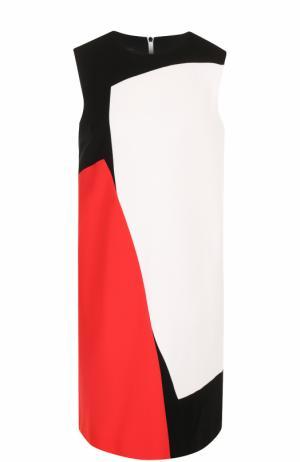 Мини-платье свободного кроя с принтом Escada. Цвет: черный