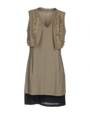 Короткое платье BARBA Napoli. Цвет: серый