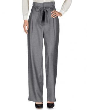 Повседневные брюки MIAHATAMI. Цвет: серый