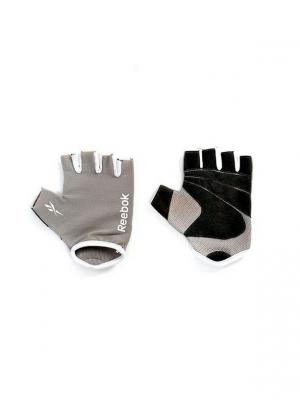 Перчатки для фитнеса  Reebok L/XL. Цвет: серый, белый