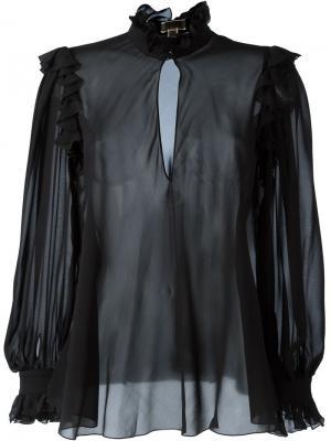 Прозрачная блузка Giambattista Valli. Цвет: чёрный