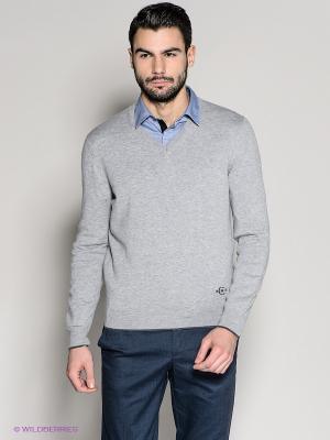 Пуловер 18CRR81 CERRUTI. Цвет: светло-серый