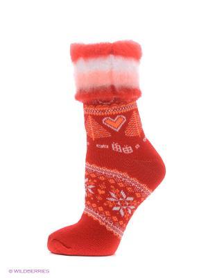 Носки для дома HOSIERY. Цвет: красный