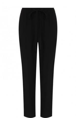 Укороченные однотонные брюки прямого кроя REDVALENTINO. Цвет: черный