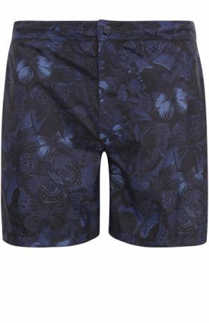 Плавки-шорты с принтом Valentino. Цвет: темно-синий