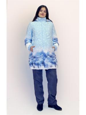 Куртки Вдвоем. Цвет: голубой