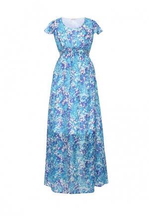 Платье MammySize. Цвет: голубой