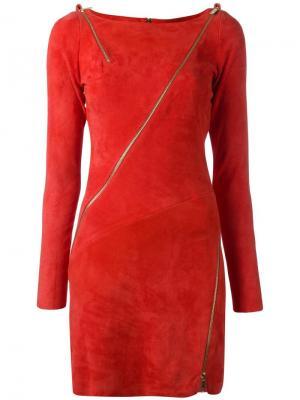Платье с декоративными молниями Jitrois. Цвет: жёлтый и оранжевый