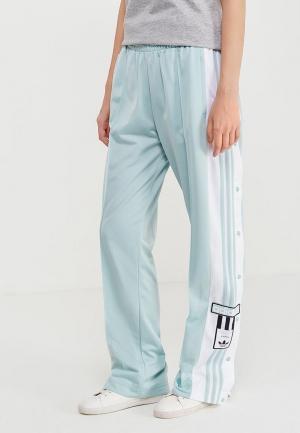 Брюки спортивные adidas Originals. Цвет: бирюзовый