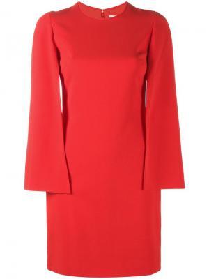 Платье-кейп Givenchy. Цвет: красный