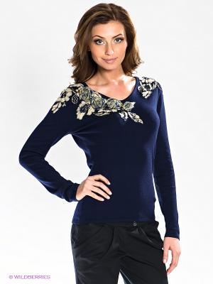 Пуловер Carat. Цвет: синий