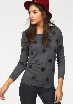 Пуловер AJC. Цвет: бежевый/белый, бордовый/цвет мальвы, серый/черный, черный/белый