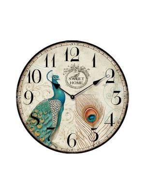 Часы настенные Павлин Magic Home. Цвет: белый
