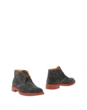 Полусапоги и высокие ботинки DOMENICO TAGLIENTE. Цвет: свинцово-серый