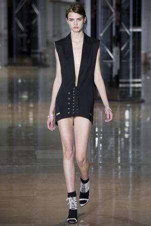Платье-мини Anthony Vaccarello. Цвет: черный