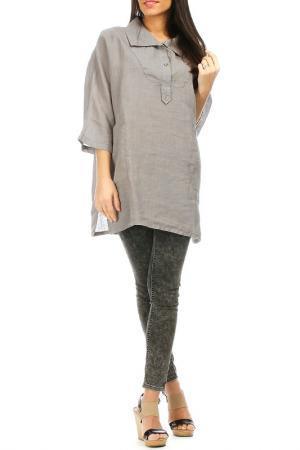 Рубашка Laklook. Цвет: серый