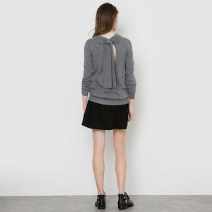 Пуловер с бантом сзади MADEMOISELLE R. Цвет: серый,телесный