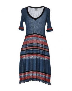 Платье до колена AKEP. Цвет: грифельно-синий