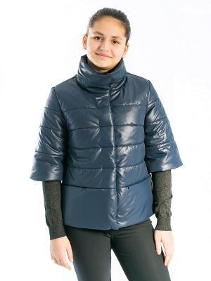Куртка Вика Аксарт. Цвет: темно-синий