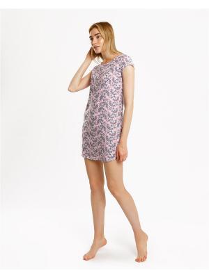 Ночная сорочка Mark Formelle. Цвет: бледно-розовый, белый, розовый
