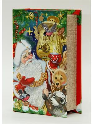 Декоративная шкатулка Дед Мороз с самоваром Magic Time. Цвет: зеленый