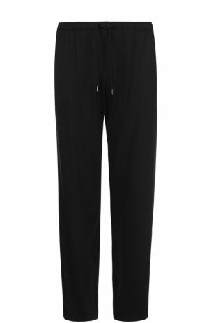 Домашние брюки из вискозы свободного кроя Derek Rose. Цвет: черный