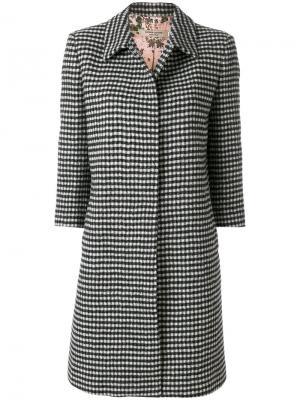Приталенное пальто с вышивкой Piccione.Piccione. Цвет: чёрный