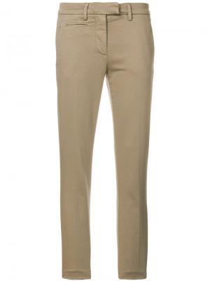 Укороченные брюки скинни Dondup. Цвет: телесный