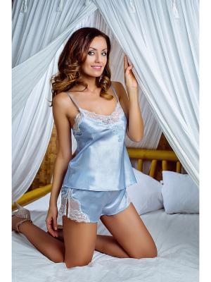 Пижама Mia-Mia. Цвет: голубой