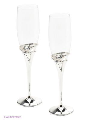 Набор бокалов 2 штуки (6,5х6,5х25,3 см) Marquis. Цвет: серебристый