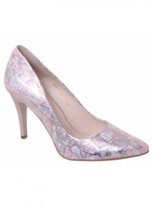 Туфли Goergo. Цвет: бледно-розовый, золотистый