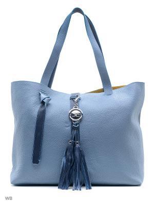 Сумка Jacky&Celine. Цвет: голубой, темно-синий