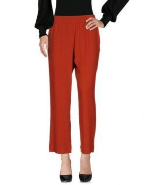Повседневные брюки I'M ISOLA MARRAS. Цвет: ржаво-коричневый