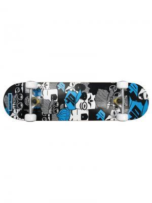 Скейтборд My Area 31 Super People. Цвет: черный,серый,белый