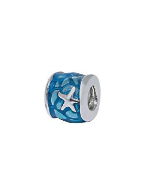 Морская звезда голубой Sun&Moon Charm. Цвет: серебристый