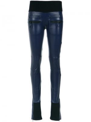 Panels flared trousers Andrea Bogosian. Цвет: синий