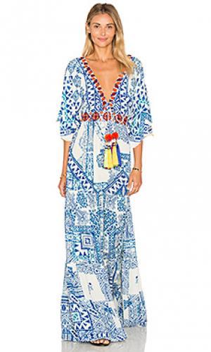 Макси платье HEMANT AND NANDITA. Цвет: синий