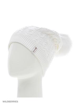 Хлоя Беркле шапка женская с помпоном Berkle. Цвет: белый