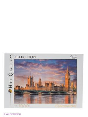 Пазл Лондон. Здание Парламента, 1000 эл. Clementoni. Цвет: синий, оранжевый, белый