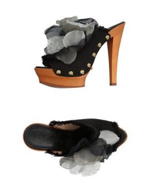 Мюлес и сабо ENIO SILLA for LE. Цвет: черный