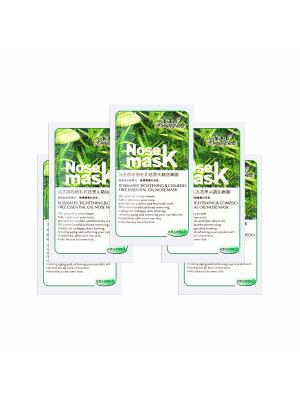 Набор Маска-пленка для носа Rosemarry tighting&comedo-free essential oil nose mask, 5 шт., 5*8 гр. Beauty Host. Цвет: прозрачный