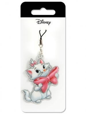 Брелок дисней кошка мари Disney. Цвет: розовый, белый