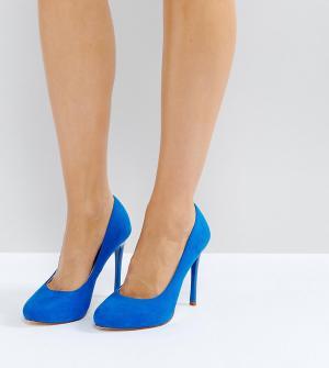 Faith Wide Fit Синие туфли на каблуке для широкой стопы Candy. Цвет: синий