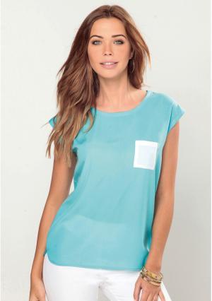 Блузка Venca. Цвет: синий (лазурный)