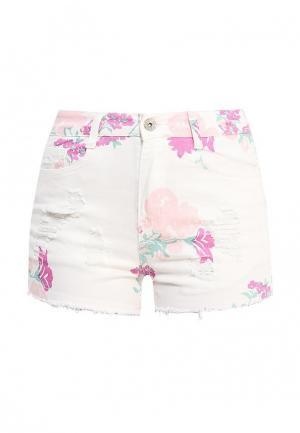 Шорты джинсовые Kiss Pink. Цвет: белый