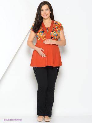 Блуза Livaa. Цвет: оранжевый
