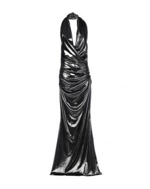 Длинное платье TALBOT RUNHOF. Цвет: серый