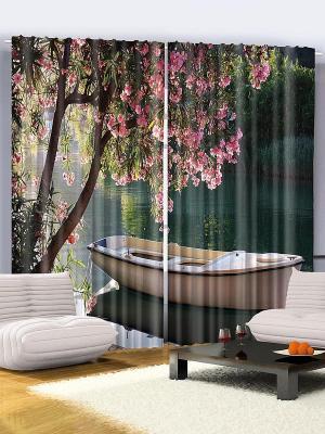 Комплект фотоштор Нежные розовые цветы, 290*265 см Magic Lady. Цвет: зеленый, морская волна, оливковый, красный, розовый